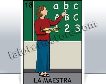 la licenciada loteria card the lawyer mexican bingo art etsy