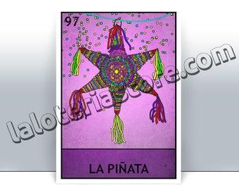 la piña loteria card pineapple mexican bingo art print etsy
