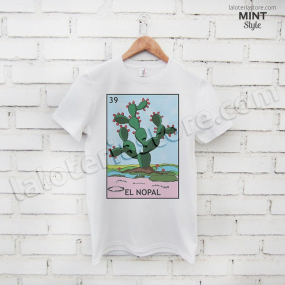 d581bcf8e El Nopal Loteria Card T-Shirt Mexican Bingo Many Sizes Men | Etsy