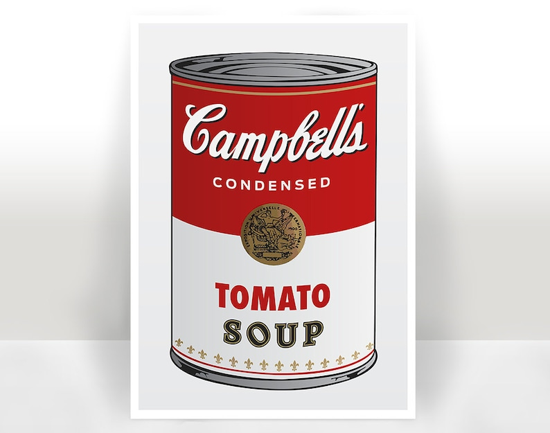 Campbell's Soup Art Print  Poster  Many Sizes image 0
