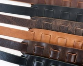 Sunshine Leather Guitar Strap, Matte Brown, Matte Black, Glossy Black, Vintage Chocolate, Antique Mahogany, Vintage Tan, Sling