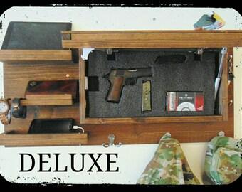Choose Color Deluxe Hidden Gun Storage Secret Shelf Compartment Coat Key  Rack Organizer Concealment Charging Station