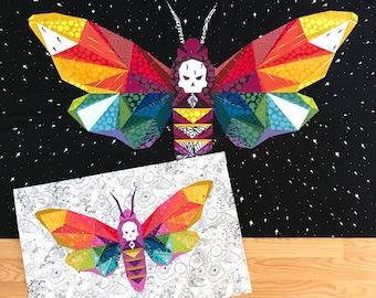 PATTERN BUNDLE - Flame Seeker Quilt & Mini Paper Piecing Patterns