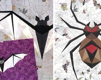 PATTERN BUNDLE - Midnight Bite & Wicked Weaver Paper Piecing Patterns - PDF Format