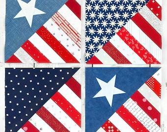 Half Square America Pattern