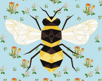 Honey Maker Paper Piecing Pattern