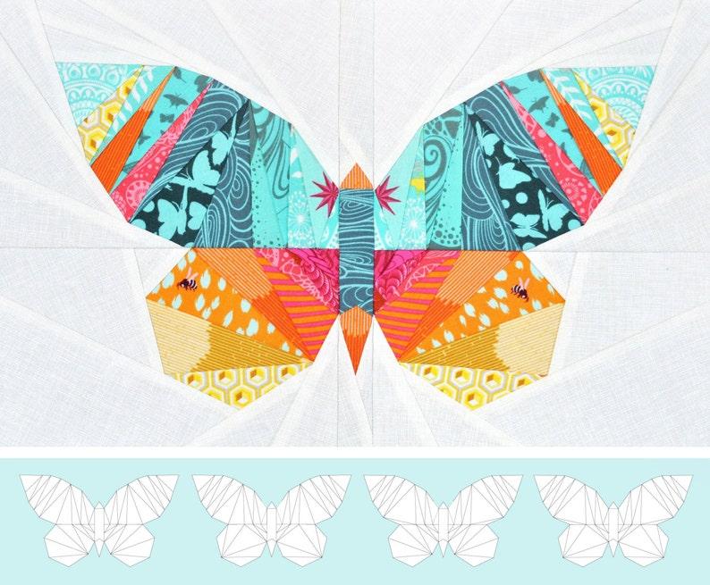 Take Wing Mini Paper Piecing Pattern image 1