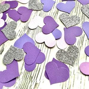 Turquoise Ombre Paper Heart Confetti Paper Confetti Party Decor Table Decor