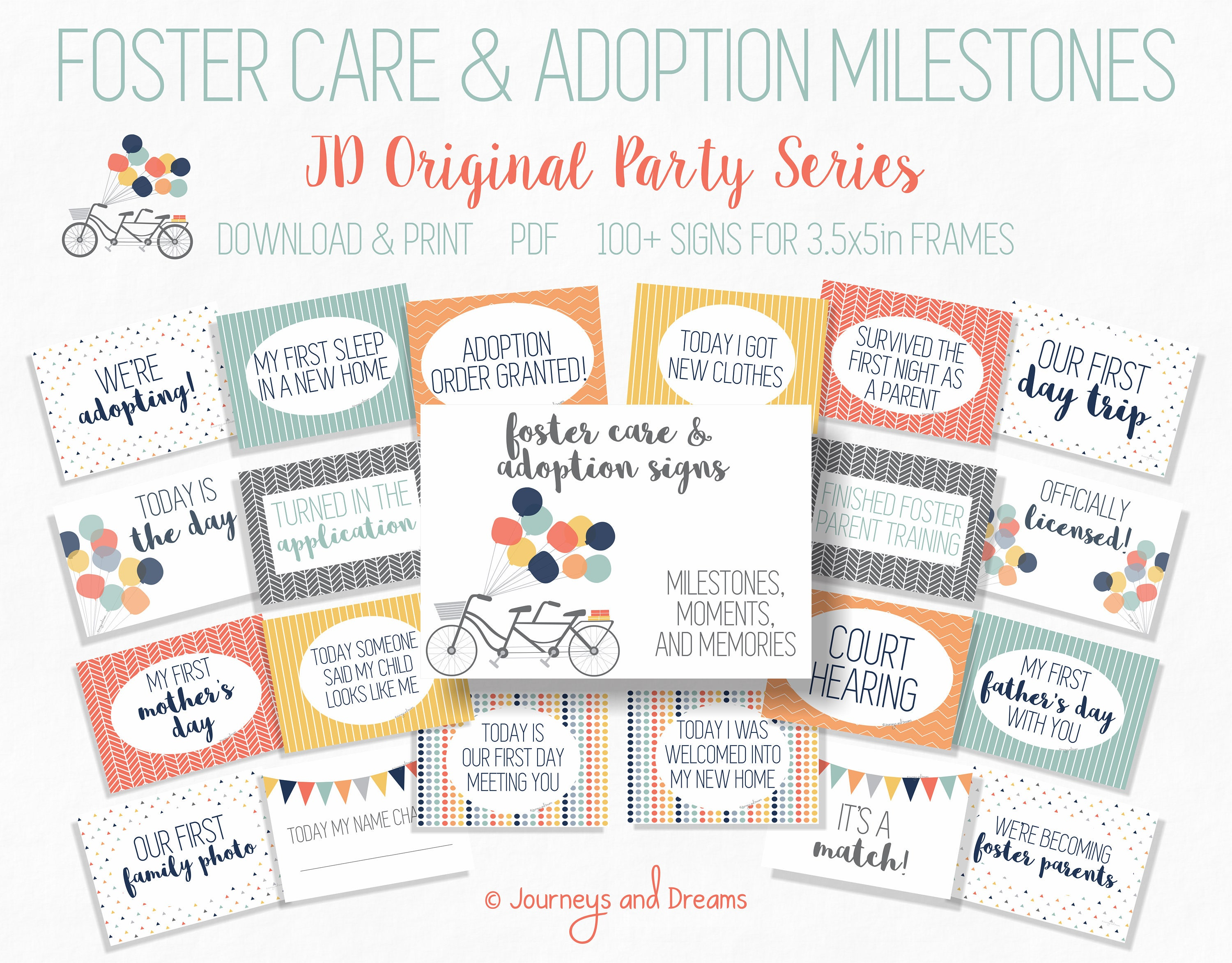 Foster Care and Adoption Milestone Signs . 100 Signs . | Etsy