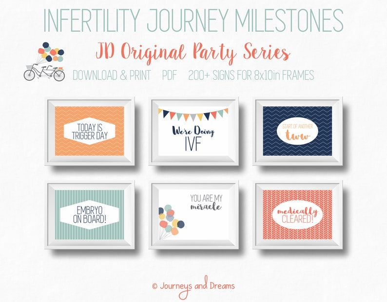 IVF / In-Virto / IUI / ART / Pregnancy Signs   200+ Signs!   8x10   Photo  Prop   Printable   Digital Download   Original Party Series