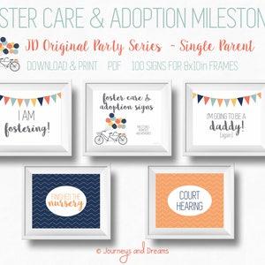 Photo Prop 8x10 DIGITAL DOWNLOAD Printable 100+ Signs FosterAdoptive Baby Milestone Signs NICU Black and White Series Preemie