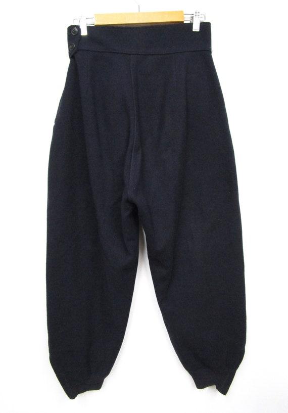 Vintage 1940s 50s Women's Wool Side Zip Pants 28 … - image 6