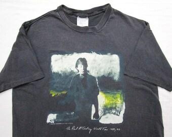 Vintage PAUL MCCARTNEY Concert Tour T Shirt M L 80s 90s