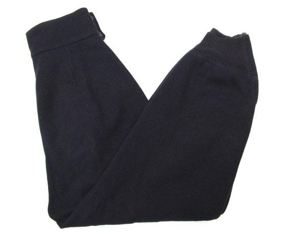 Vintage 1940s 50s Women's Wool Side Zip Pants 28 … - image 9