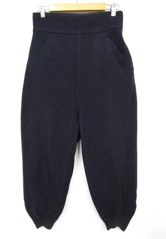 Vintage 1940s 50s Women's Wool Side Zip Pants 28 … - image 7