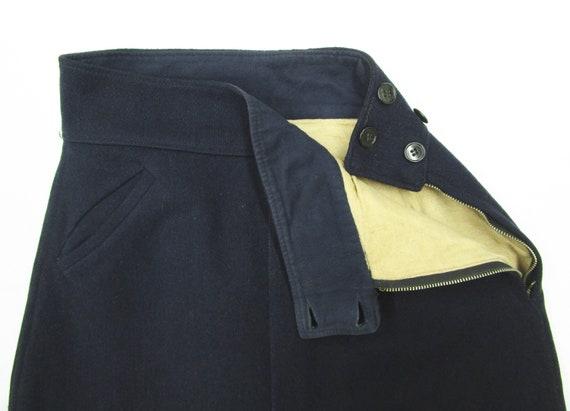Vintage 1940s 50s Women's Wool Side Zip Pants 28 … - image 2