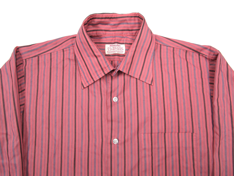 1970s Mens Shirt Styles – Vintage 70s Shirts for Guys Vintage 1970S Pink Striped Dress Shirt Sz M 15.5 34  Mint Condition 1960S Mod $0.00 AT vintagedancer.com