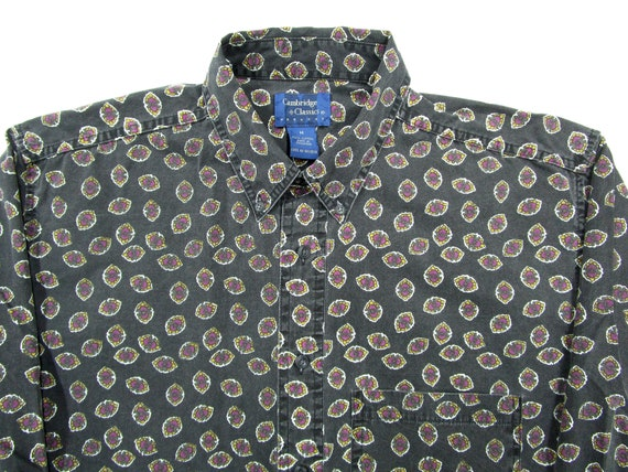 Vintage 1990s Cambridge Classics shirt M ~ cotton