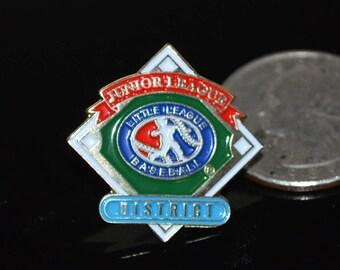 Vintage Little League Baseball: Junior League District Lapel Pin