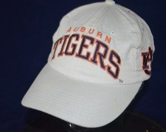 925a56b6157 Vintage AUBURN UNIVERSITY TIGERS Adjustable Baseball Cap Hat (One Size Fits  All)