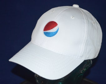 dcd84231170 Vintage PEPSI COLA LOGO Adjustable Baseball Cap Hat (One Size Fits All)