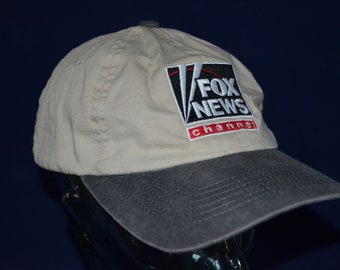 1b8b691963d Vintage FOX NEWS Channel Adjustable Baseball Cap Hat (One Size Fits All)