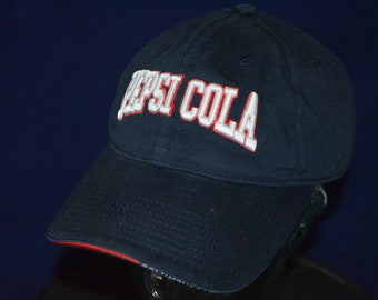 00d1211acd7 Vintage PEPSI COLA Adjustable Baseball Cap Hat (One Size Fits All)