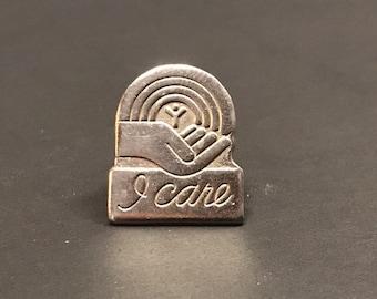"Vintage UNITED WAY ""I Care"" Service Lapel Pin"