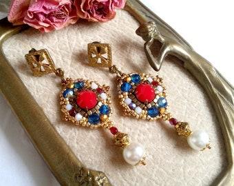 Earrings Medici n.1/style antique/renaissance/history/tudor/Mary stuart/reign