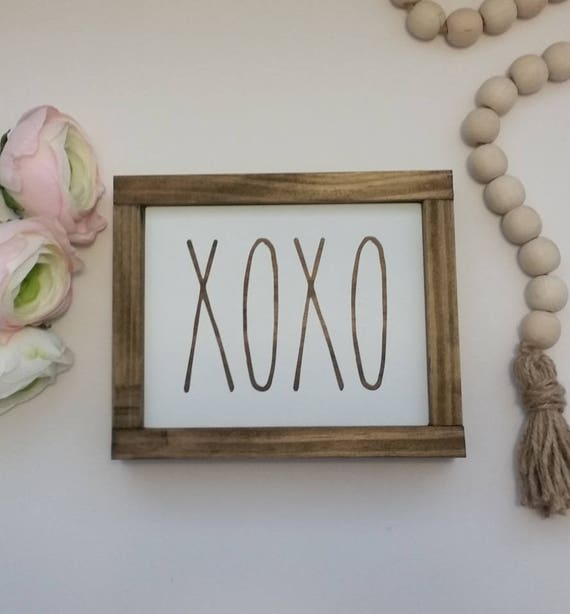 50 Farmhouse Style Gift Ideas From Etsy: Items Similar To Rae Dunn Inspired XOXO Sign, Rustic