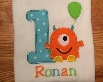 First Birthday Monster Personalized Onesie