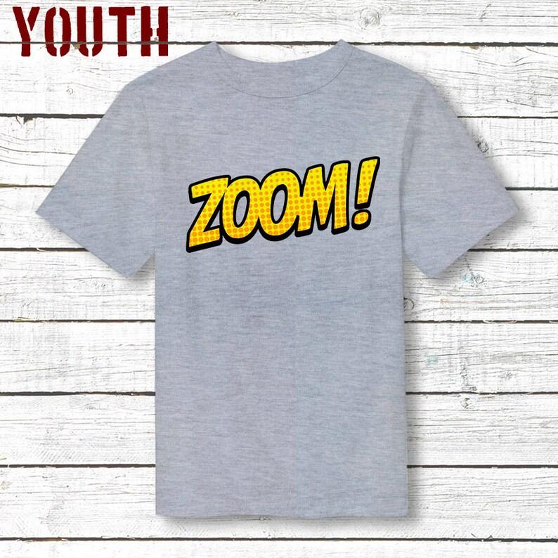 Zoom ! Jeunes Tee, tees de bande dessinée, geek de bandes dessinées, cadeaux pour les geeks, cadeau pour les fils, cadeau pour garçon, achat cadeaux