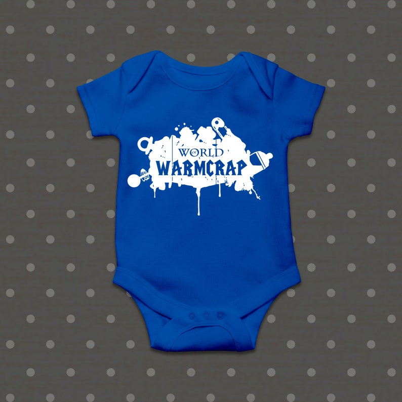 novelty newborn gamer baby baby gifts online,cool baby shower gifts,rpg World of Warmcrap Bodysuit baby gifts gamer snapsuit,gamers