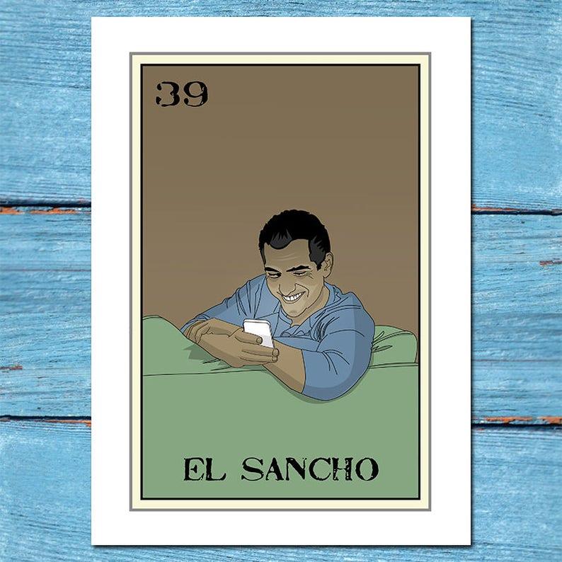 b3fdff61b3647 El Sancho Loteria 13x19 Art Printloteria artloteria