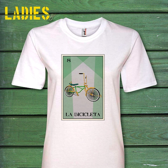 c8a4d1e69 Bicicleta Loteria Ladies Tee Creative tshirthand drawn fun | Etsy
