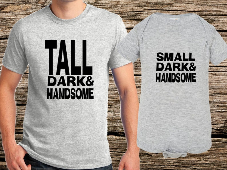 TallSmall Matching Set baby gifts online,cool baby shower gifts,unusual baby gifts,father son matching,dad baby sets,creative gifts