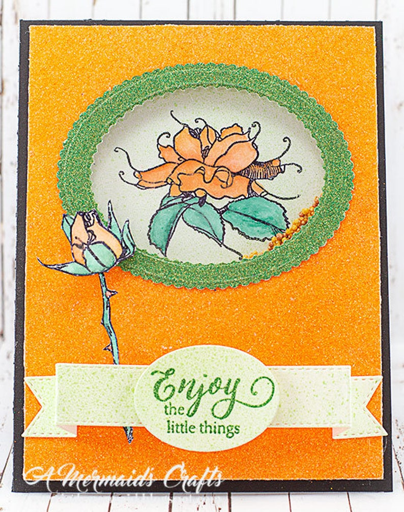 Sparkly Enjoy the Little Things Shaker Greeting Card