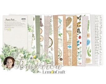 Lemoncraft Tomorrow 1 12x6 Elements For Fussy Cutting Scrapbook Paper Stack