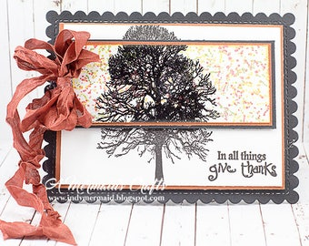 Handmade Give Thanks / Thanksgiving Greeting Card