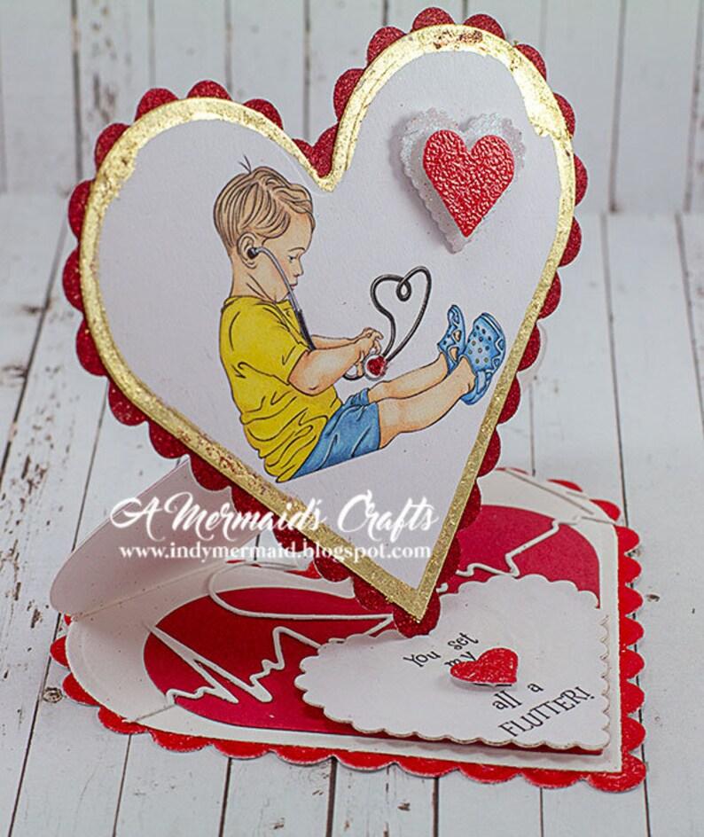 Heart Shaped You Set My Heart A Flutter Love / Anniversary / Wedding  Greeting Card