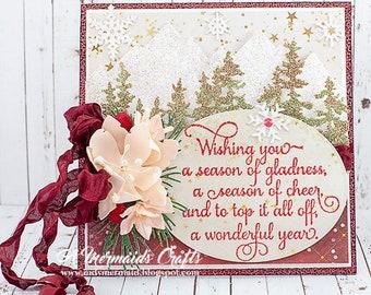 Season of Cheer Sparkly Christmas Card