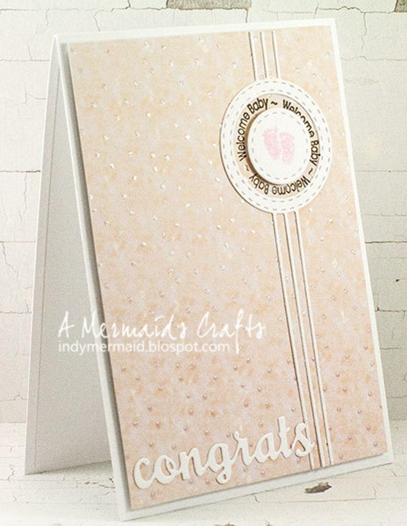 Handmade Baby Girl Congratulations Card