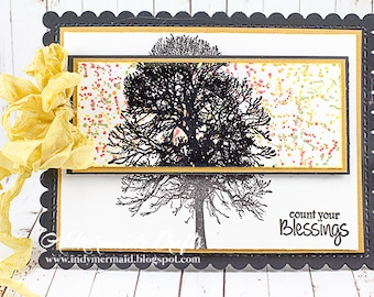 Handmade Count Your Blessings / Thanksgiving Greeting Card