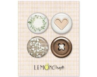 Lemoncraft Tomorrow Buttons / Badges