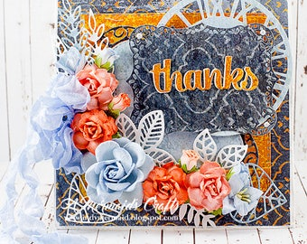 Shabby Chic Thanks Greeting Card