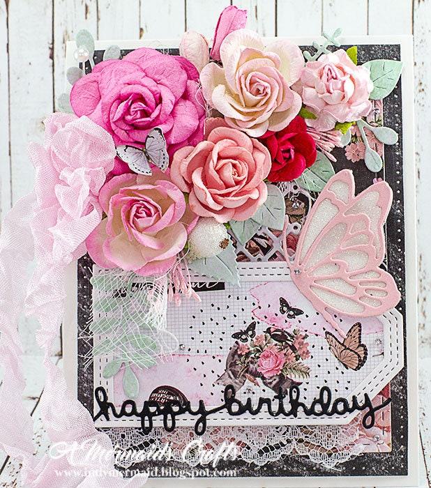 Shabby Chic Happy Birthday Greeting Card   Etsy