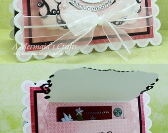Handmade J'Adore Just for You Gift Card Holder Card