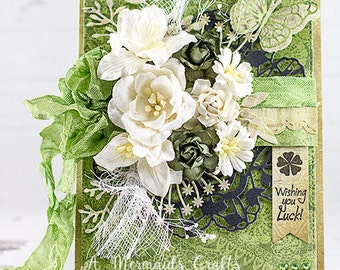 Shabby Chic Wishing You Luck Card