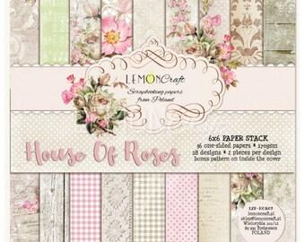 Lemoncraft House of Roses 6x6 Designer Scrapbook Paper