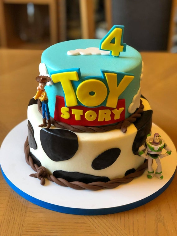 Marvelous Toy Story Inspired Cake Topper With Clouds And Birthday Etsy Personalised Birthday Cards Rectzonderlifede